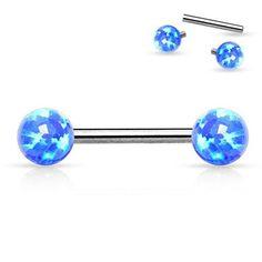 """Nipple Shield Ring Jewelry 14g Piercing Bar Barbell 1//2/"""" Fire Opal Steel Forward"""