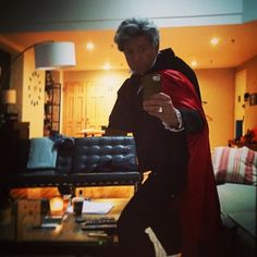 And no, it has nothing to do with Star Trek or Science.  But Sean looks scarily like his dear dad.  I so miss Jon Pertwee.  He was an awesome Doctor.   This is perfect: Sean Pertwee dressed up as his Dad for Halloween