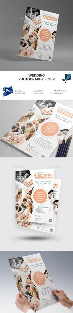Wedding Photography Flyer Template PSD