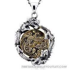 Tibetan 925 Sterling Silver Chinese Style Double