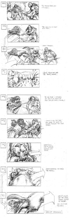 Artist Will Simpson's Storyboards Are Infused With Energy — Making Game of Thrones