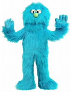 PuppetU.com - Silly Puppets Monster (Blue) 30 inch Puppet, $34.99 (http://store.puppetu.com/silly-puppets-monster-blue-30-inch-puppet/)