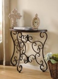 Isabella Demilune Table #kirklands #vintagechic