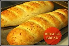 Miracle Bread / The Grateful Girl Cooks! Miracle Bread (easy homemade french bread) / The Grateful Girl cooks! Easy Bread Recipes, Quick Bread, How To Make Bread, Cooking Recipes, Yummy Recipes, Homemade French Bread, Girl Cooking, No Knead Bread, Bread Bun