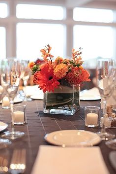 The Perfect Palette: {Vibrant Vows}: Shades of Orange, Gray + White