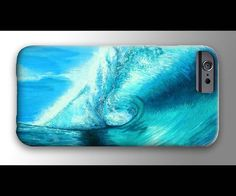 Surf Waves Painting iPhone 4 4s 5 5s 5c 6 Case, Samsung Galaxy Hard Plastic Cover, Nature Art, Ocean Art, Wave Phone Case