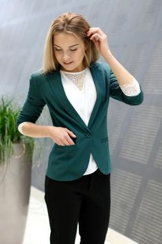 Mbym - Tabita Blazer Green Blazer, Jackets, Fashion, Down Jackets, Moda, La Mode, Blazers, Fasion, Fashion Models