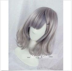 Women New Harajuku Lolita Wig Smoke Grey Full Long Cruly Hair Short Cosplay Wig #100Newwithtags #FullWig