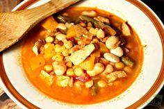 Hiszpańska zupa dyniowo-fasolowa #dynia #fasola
