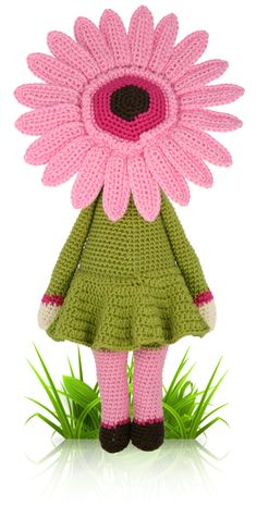 Gerbera Gemma - crochet amigurumi pattern by Zabbez / Bas den Braver