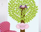 PRINTABLE Custom Baby Shower Poster - Signature BirdHouse Trees - 16X20. $18.00, via Etsy.