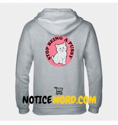 stop being a pussy hoodie back