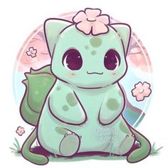 ✨🌸 A little Bulbasaur! 🌸✨ As requested! 😄💕 what Pokemon would y'all like to see next? Cute Kawaii Animals, Cute Animal Drawings Kawaii, Cute Drawings, Griffonnages Kawaii, Kawaii Anime, Cute Pokemon Wallpaper, Cute Cartoon Wallpapers, Desenho Kids, Pokemon Pictures