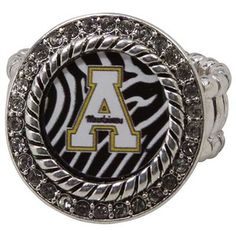 Appalachian State Mountaineers Zebra Twisted Rope Stretch Ring