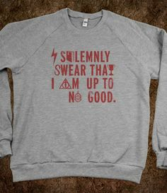 I solemnly swear that I am up to no good (Sweater)