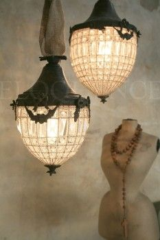 "REPIN this New Antique Reproduction by ELOQUENCE Lighting ""Chateau"" Chandelier (Small/Large) 