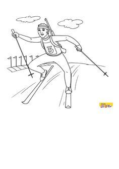 Olympic Sports, Olympic Games, Christmas Colors, Winter Christmas, Christmas Coloring Pages, School Sports, Montessori, Olympics, Biathlon