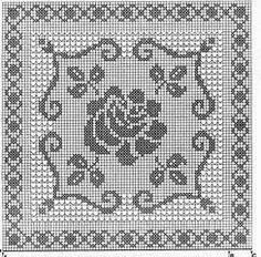 Best 11 Kira scheme crochet: Napkins with roses Filet Crochet Charts, Crochet Diagram, Crochet Motif, Crochet Doilies, Crochet Flowers, Crochet Stitches, Crochet Patterns, Crochet Snowflake Pattern, Crochet Cross