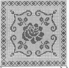 Best 11 Kira scheme crochet: Napkins with roses Filet Crochet Charts, Crochet Diagram, Crochet Motif, Crochet Doilies, Crochet Flowers, Crochet Stitches, Crochet Patterns, Crochet Yarn, Crochet Snowflake Pattern