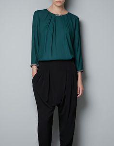 BLOUSE WITH CHAIN DETAIL - Woman - New this week - ZARA United States