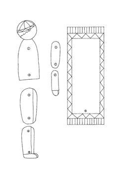 Paper prayer doll with prayer mat. Let your child color and practice their prayer positions.