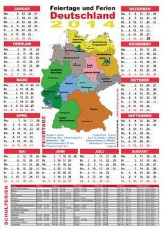 Ferienkalender 2014. Great for practicing ordinal numbers. Also: new online exercise on ordinal number endings: -sten/-ste/-ten/-te. http://deutschdrang.com/dir/wp-content/uploads/2013/02/ordinalnumbers.htm