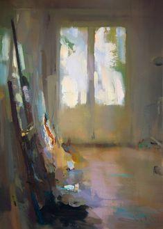 "Saatchi Art Artist: Carlos San Millan; Oil 2014 Painting ""Interior #107"""