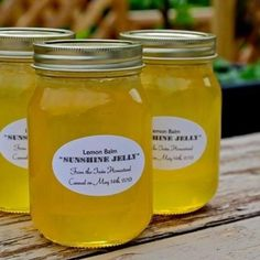 Lemon Balm Jelly - Not sure about this, but I definitely have lemon balm!