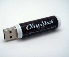 Hide your data in a ChapStick USB stick