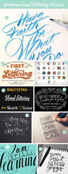online classes Are you obsessed with hand lettering? It's totally possible to teach yourself hand lettering by reading and watching online tutorials and classes. Hand Lettering Tutorial, Hand Lettering Fonts, Doodle Lettering, Creative Lettering, Lettering Styles, Handwriting Fonts, Brush Lettering, Lettering Design, Penmanship