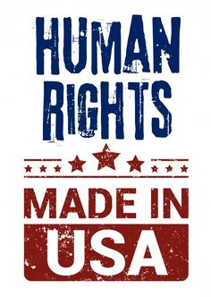 Human rights made in USA | DEMOCRACY DELIVERED | Send real postcards online | Democracy Delivered