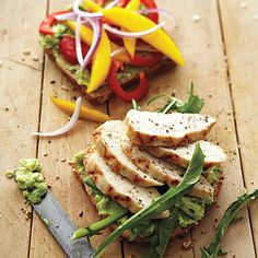 This upgraded version of a classic grilled-chicken sandwich packs in a heart-healthy avocado spread and antioxidant-rich veggies.