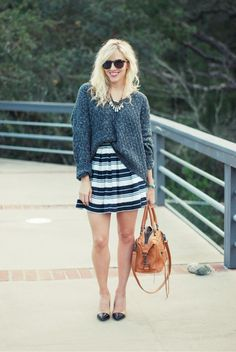 Want to try a chunky knit tuck, but what's the secret to not looking bulky?