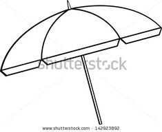 Pix For Beach Umbrella Coloring Page Beach stuff Pinterest