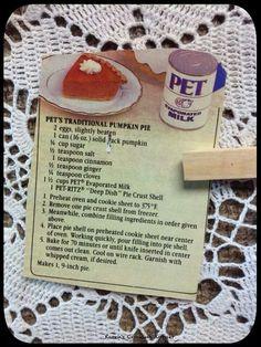 Pet Milk Pumpkin Pie