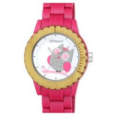 Buy SPROUT Watches Owl Dial Bracelet Watch 45mm Pink price - A starry-eyed owl peers out from the mother-of-pearl watch dial topping a cute eco-friendly watch made from biodegradable materials. Color (s) : pink. Brand: SPROUT WATCHES. Style Name: SPROUT Watches Owl Dial Bracelet Watch 45mm. Style Number:...