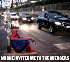 Sad Spiderman is sad. things-that-make-me-laugh