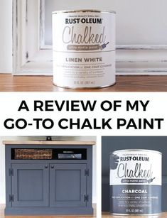 Angela Marie Made Pros and Cons of painting my furniture with Rustoleum Chalk Paint in Linen White a Rustoleum Chalk Paint Colours, Chalk Paint Table, Best Chalk Paint, Rustoleum Chalked, Chalk Paint Kitchen Cabinets, Distressing Chalk Paint, Chalk Paint Dresser, Black Chalk Paint, Chalk Paint Furniture