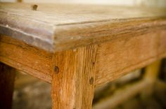 1600′s English oak end table. VIDEO: Traditional Woodworking Tour: 1600′s English Furniture and Timber Frame Farmhouse (WoodAndShop.com)