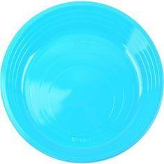 Talerzyki plastikowe niebieskie TURKUSOWE 6 szt