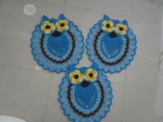 conjunto corujas azul turquesa