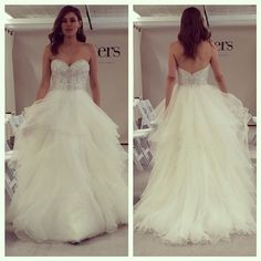How fab is this light and airy ballgown by Watters?