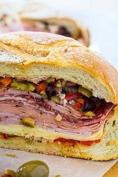 Sandwich recipes 174233079320484973 - Muffaletta Sandwich- perfect for Mardi Gras! Muffaletta Recipe, Muffuletta Sandwich, Wrap Sandwiches, Tailgate Sandwiches, Sandwich Appetizers, Club Sandwich Recipes, Panini Sandwiches, Sandwich Bar, Chicken Sandwich