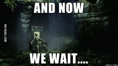 When you open a door when playing Skyrim on console