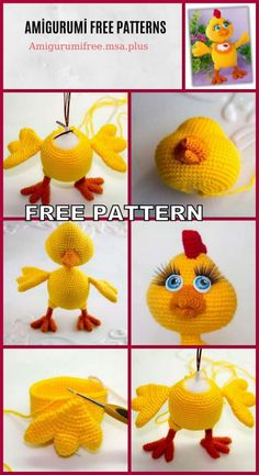 Amigurumi chicken free pattern is waiting for you in this article. We continue to share the latest amigurumi recipes. Crochet Toys Patterns, Amigurumi Patterns, Amigurumi Doll, Crochet Dolls, Crochet Ideas, Cute Crochet, Crochet Baby, Crochet Christmas Hats, Crochet Chicken
