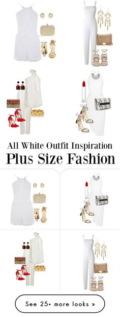 All White Plus Size Fashion Outfit Inspiration
