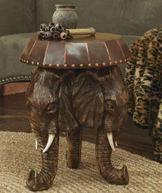 Elephant Table from Midnight Velvet. www.midnightvelvet.com