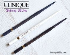 Clinique Skinny Stick ultra-fine eyeliners get right on the lash line for a thicker, fuller lash look!