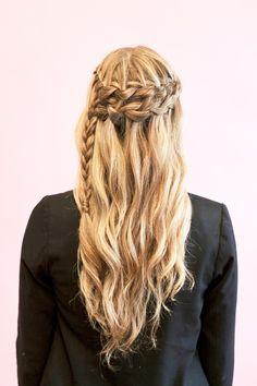 Double waterfall braid tutorial