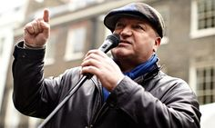 Bob Crow, RMT general secretary, at a London protest against government spending cuts in Photograph: Matthew Lloyd/Getty Images London Protest, Entrepreneur Club, Global Entrepreneurship, Country Magazine, East Of Eden, Retro Men, Working Class, 10 Year Old, British History